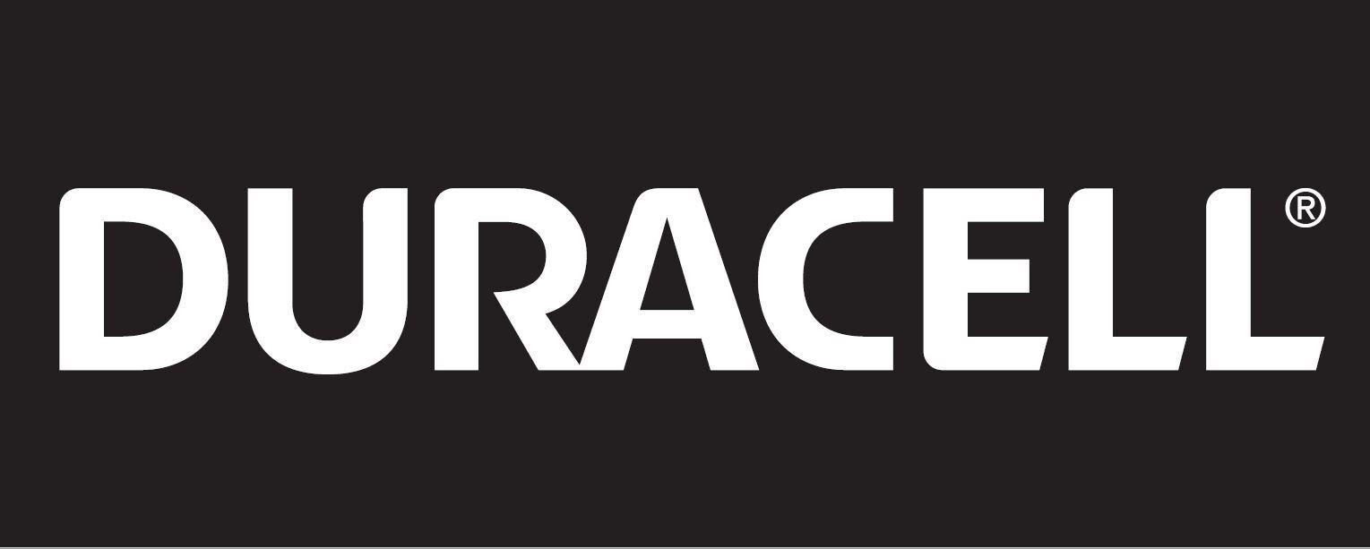Duracell Logo Whiteon Black